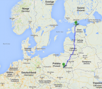 Via Baltica route naar Tallinn